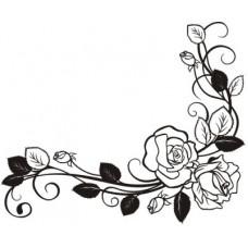 Уголок-розы  5,8см х 4,8см