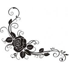 Уголок-розы  5,2см х 4,1см