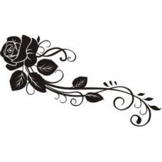 Роза с завитком. Размер штампа 3,5см х 2см