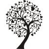 Дерево с сердечками -1