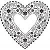 Штамп Ажурное сердце