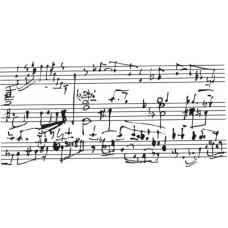 Старые ноты. 6,5 см х 3 см
