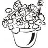 Комнатный цветок, 3,2 см х 2,9 см.