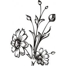 Штамп Цветы