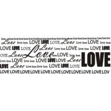 Фоновый штамп LOVE  7,6 см х 2,5 см
