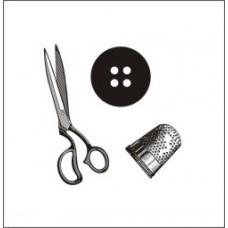 Швейный набор(общий размер штампов 5см х 5см)