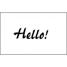 Hello! 4,1 см х 1,0 см