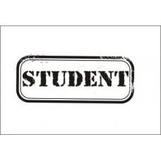 Студент. 4,7 см х 2,0 см