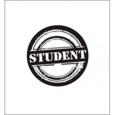 Студент  2,9 см х 2,9 см