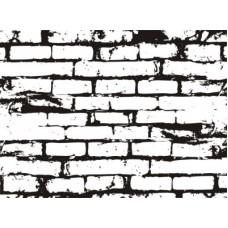 Кирпичная стена. 6,3 см х 4,7 см