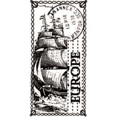 Штамп фотновый Море2, размер 3,6 см х 6,7 см.