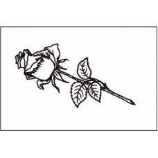 Роза  3,6 см х 1,9 см.