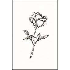Роза   3,1 см х 5,4 см.