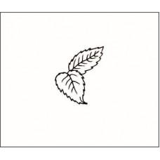 Штамп листья розы .Размер штампа 1,6 см х 1,9 см.