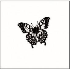 Бабочка-1.Размер штампа 1,8 см х 1,7 см
