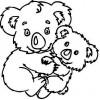 Малыш и мама  (бол.) 4,3 см х 4,3 см