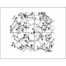 """Фон """"карта неба"""" 6,5 см х 5,8 см"""