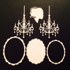 Набор чипборда коллекция Шебби прованс №5, размер 10х15 см