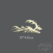 Чипборд Морская волна. Размер 10*4,5см