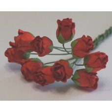 Бутоны роз красные 1,3см , (5шт)