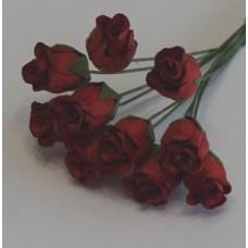 Бутоны роз темно-красные 1,3см , (5шт)