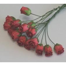 Бутоны роз темно-розовые 1,3см , (5шт)
