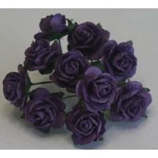 Розы фиолетовые - 2см, длина стебля 5см (5шт)