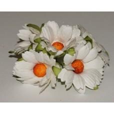 Хризантемы белые, 4,5см.  5шт