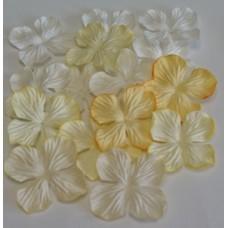 Гортензия  желтый микс.  2,5см(15 штук)