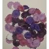 Маргаритки фиолетово-сиреневый микс  25шт, 2,5 см