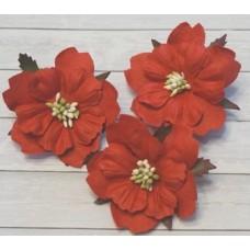 Цветы. Пион - красный, диаметр ок. 5,5 см , длина стебля 2 см. 1шт