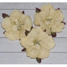 Цветы. Пион - кремовый, диаметр ок. 5,5 см , длина стебля 2 см. 1шт