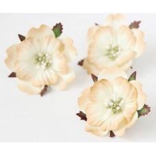 Цветы. Пион - бежевый, диаметр ок. 5,5 см , длина стебля 2 см. 1шт