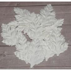 Набор белых листьев шиповника без стебельков. Листья длина 3,5 см ширина 2,5 Набор 10 шт