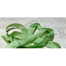 Шебби-лента,  винтажная , зеленая. Длина 90см