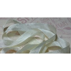 Шебби-лента,  винтажная , светло-желтая. Длина 1м