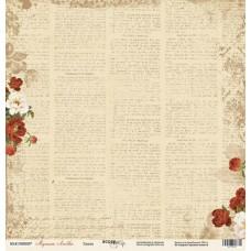 Лист односторонней бумаги 30x30 Газета. Коллекция Музыка Любви