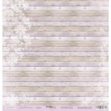 Лист односторонней бумаги 30x30 Доски. Коллекция Сиреневые мечты