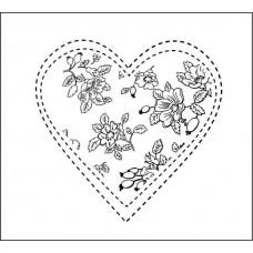Сердце со швейным стежком 5,0 см х 4,9 см