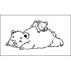 Малыш и мама 5,0 см х 2,5 см