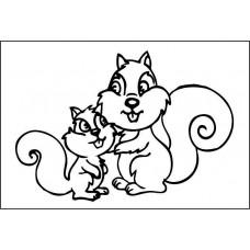 Малыш и мама 5,4 см х 3,7 см