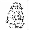 Малыш и мама 3,4 см х 4,6 см