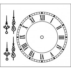 Часы и стрелки  5,0 см х 5,0см