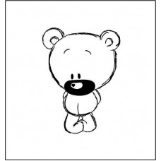 "Штамп  ""Медвежонок"" 2,3см х 3,1см"