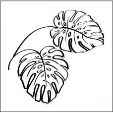 """Штамп  """"Тропические растения"""" 4,9см х 4,8см"""