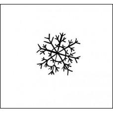 """Штамп  """"Снежинка"""" 1,8см х 1,8см"""