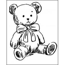 "Штамп  ""Медвежонок"" 4,3см х 5,3см"