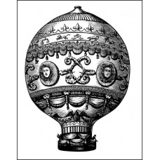 "Штамп  ""Воздушный шар"" 4,3см х 5,9см"