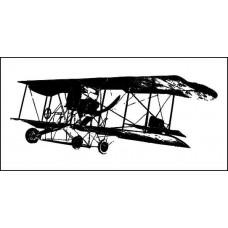 """Штамп  """"Ретро-самолет"""" 5,2см х 1,9см"""