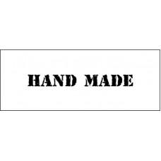 "Штамп  ""Hand made""  5см х 0,5см"